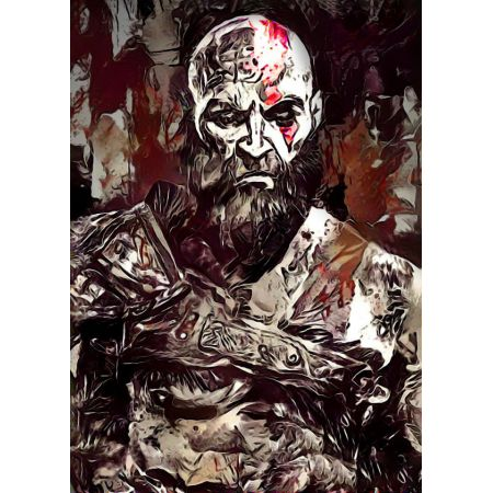Legends of Bedlam - Kratos, God of War - plakat
