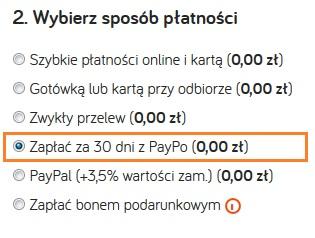 Wybierz PayPo