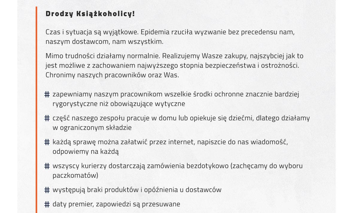Funkcjonowanie TaniaKsiazka.pl w czasie epidemii