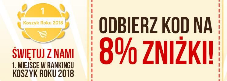 Odbierz swój kod na 8% zniżki!