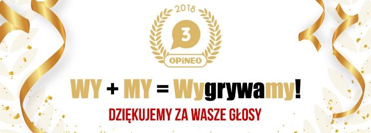 TaniaKsiazka.pl zajęła 3. miejsce w Rankingu Sklepów Internetowych 2018 Opineo.pl - Dziękujemy!