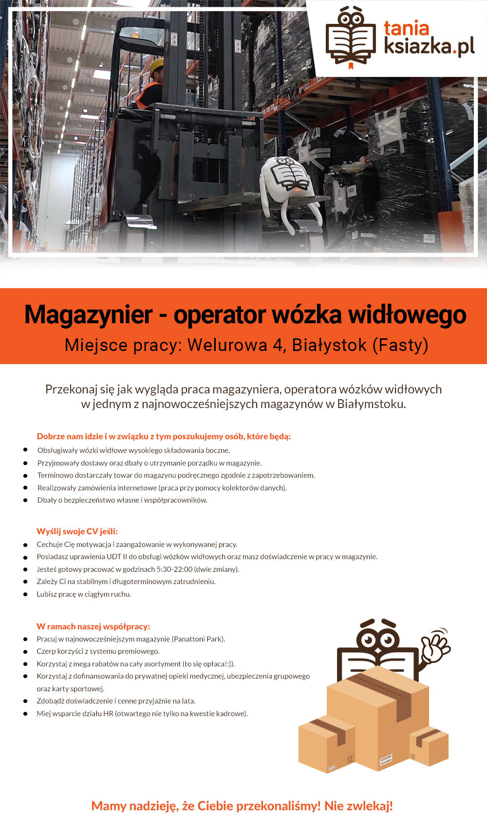 Poznaj ofertę pracy magazyniera >>