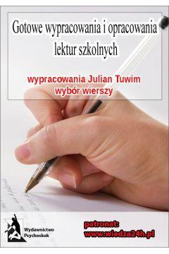 Ebook Wypracowania Julian Tuwim Wybór Wierszy Mobi Epub