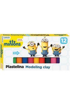 Plastelina 12 kolorów. Minionki