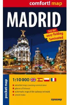 Comfort!map Madryt (Madrid) 1:10000 plan miasta