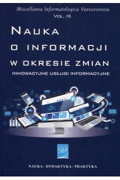 Nauka o informacji w okresie zmian