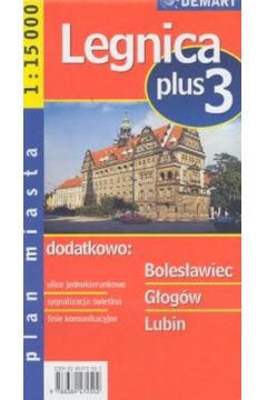 Plan miasta Legnica +3 1:15 000 DEMART