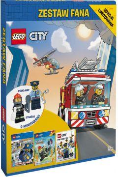 Lego City. Zestaw Fana. 3 książki i 2 minifigurki: policjant, strażak