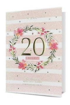 Karnet B6 Urodziny 20 HM200-2286