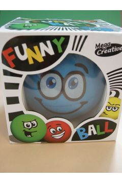 Mega Creative Funny Ball 10cm /niebieska uśmiechnięta