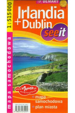 Irlandia + dublin - mapa samochodowa - plan miasta