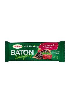 Baton daktylowy z malinami i kakao