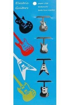 Spinacze do papieru - gitary elektryczne