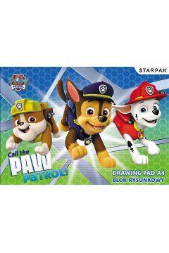 Blok rysunkowy A4 Biały Psi Patrol