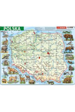 Puzzle ramkowe - Polska fizyczna