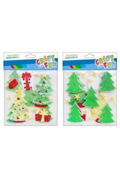 Ozdoba dekoracyjna samoprzylepna filcowa Boże Narodzenie  Choinka  CRAFT WITH FUN 463704