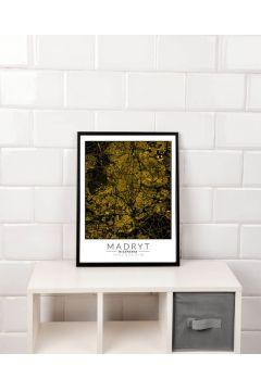 Madryt złota mapa - plakat