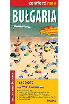 Comfort!map Bułgaria 1:520 000 mapa