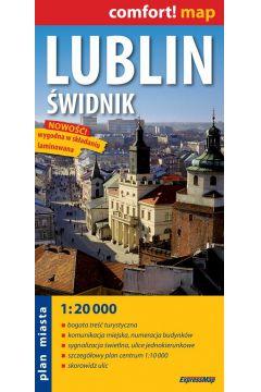 Lublin i Świdnik laminowany plan miasta 1:20 000
