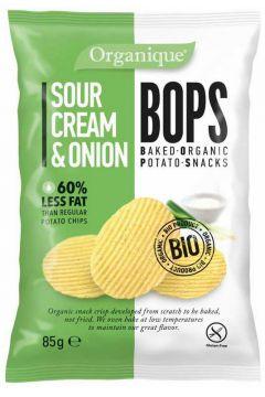 Chipsy o smaku śmietankowo-cebulowym bezglutenowe