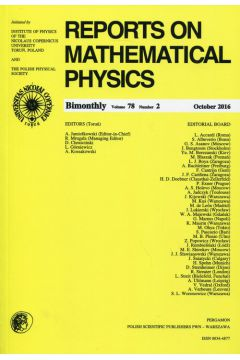Reports on Mathematical Physics 78/2 2016 Pergamon