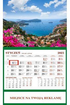 Kalendarz 2021 Ścienny Jednodzielny Lzaurowe Wyb.