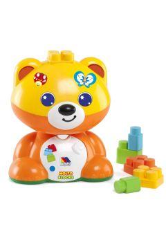 Niedźwiadek z klockami pomarańczowy