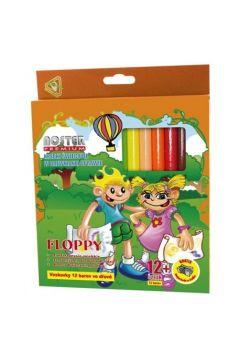 Kredki świecowe 12 kolorów Bonnini-Floppy NOSTER