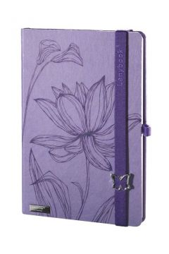 Notes A6 Lovely Butterfly fioletowy linia