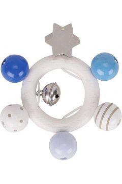 Grzechotka gwiazdka - niebieski, szary, biały
