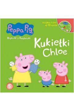 Świnka Peppa. Bajeczki z.. 5 Kukiełki Chloe + DVD