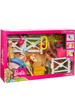 PROMO Barbie Stadnina koni zestaw + lalki FXH15 p2 MATTEL