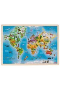 Puzzle Mapa Świata, 192