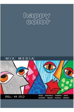 Blok Mix Media ART A4/25K 200g HAPPY COLOR
