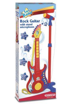 Gitara rockowa z mikrofonem
