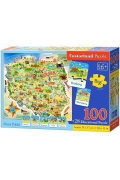 Puzzle edukacyjne. Mapa Polski