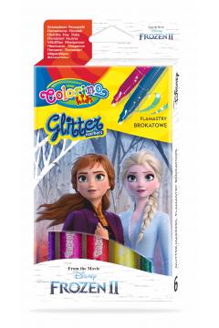 Flamastry brokatowe Colorino Kids 6 kolorów Frozen