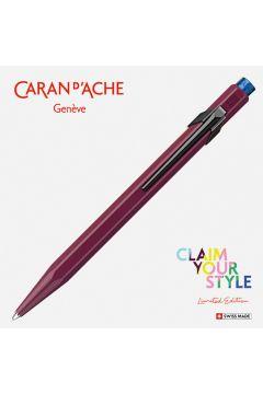 Długopis CARAN DACHE 849 Claim Your Style Ed2 Burgundy M w pudełku bordowy