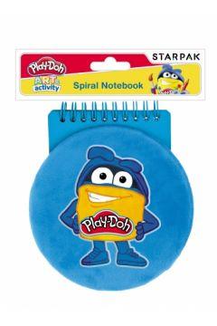 Notes na spirali pluszowy okrągły Play-Doh STARPAK 453895