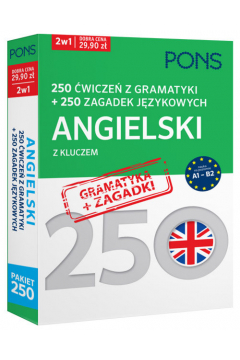 250 ćwiczeń/250 zagadek gramatyka. Angielski 2w1
