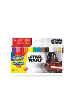 Pastele olejne Colorino Kids trójkątne 12 kolorów Star Wars