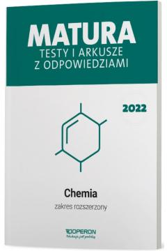 Matura 2022. Chemia. Testy i arkusze maturalne. Zakres rozszerzony