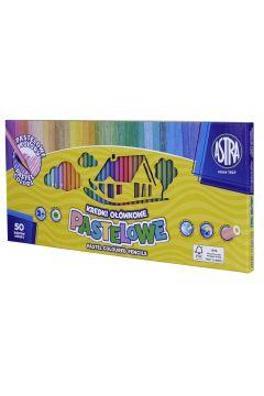 Kredki pastelowe okrągłe Astra 50 kolorów