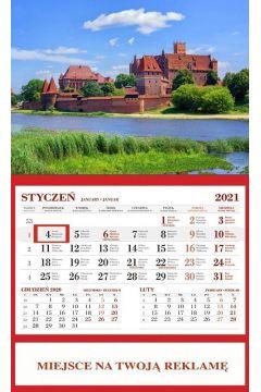 Kalendarz 2021 Ścienny Jednodzielny Malbork