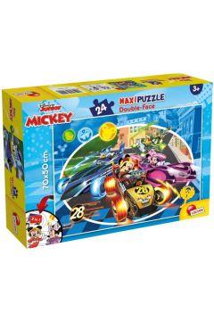 Puzzle dwustronne 24 el. Supermaxi. Myszka Miki