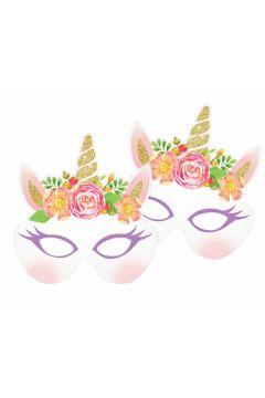 Maski papierowe Jednorożec