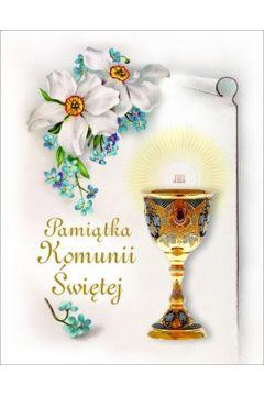 Pamiątka Komunii Świętej (niezapominajki)
