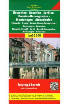 Mapa samochodowa - Słowenia, Chorwacja, Serbia...