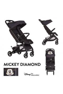 DISNEY by Easywalker Buggy GO Kompaktowy wózek spacerowy ze zintegrowaną torbą transportową Mickey Diamond