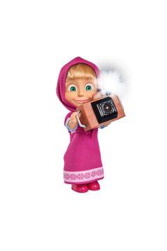 Masza i Niedźwiedź. Masza fotograf
